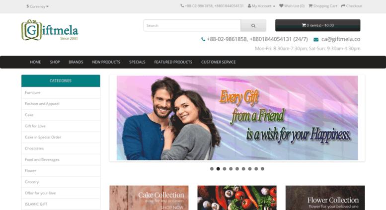 Access Giftmela Send Gift To Bangladesh From Zamdani
