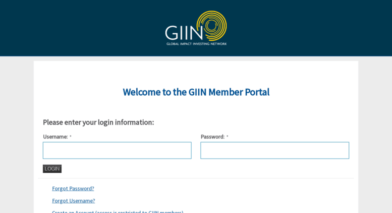 Access giin nonprofitsoapbox com  Login - Global Impact