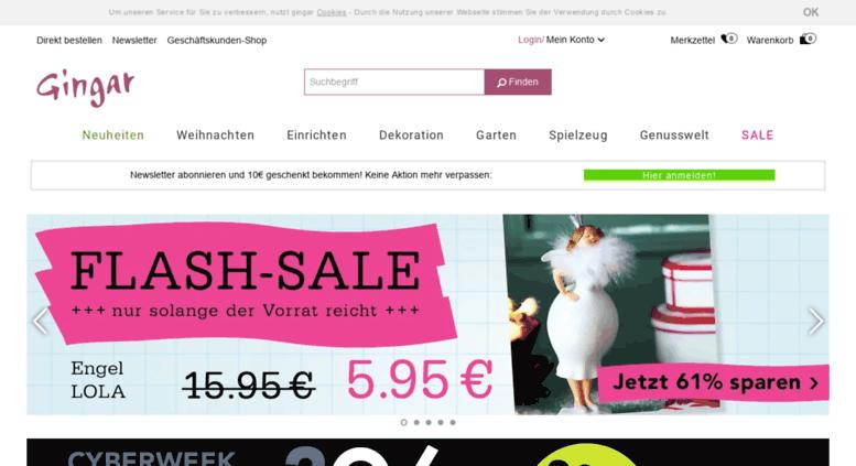 Access Gingar De Gingar Der Online Shop Fur Ausgefallene