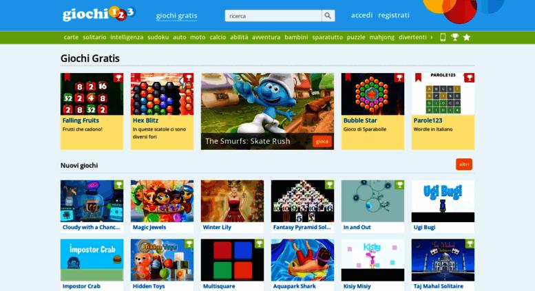 Access Giochi123net Giochi Giochi Gratis Online Giochi123