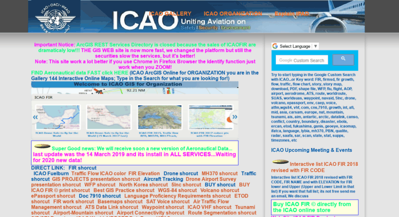 Access gis icao int  ICAO Public Maps