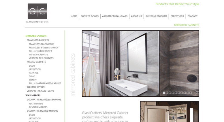 Glasscraftersmirroredcabinets.com Screenshot