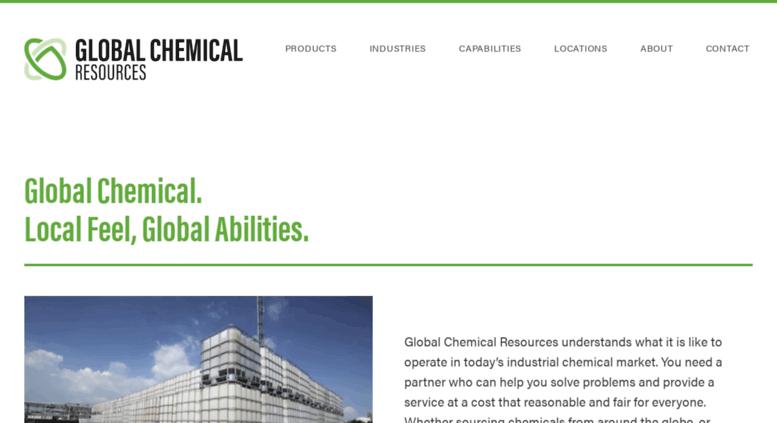 Access globalchemicalresources com  Industrial & Bulk