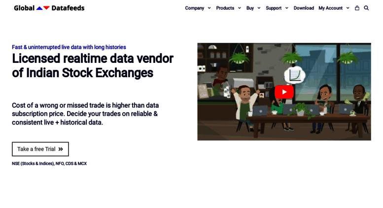 Access globaldatafeeds in  Indian Stock Exchange Data