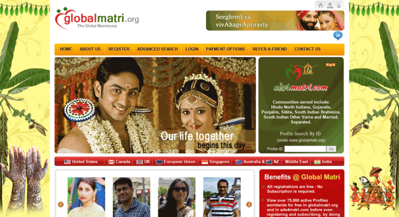 Access globalmatri org  Global Matrimonial Best Hindu Matrimony