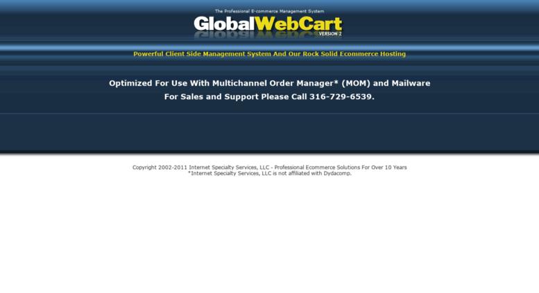Access globalwebcart com  Professional Ecommerce Shopping Cart