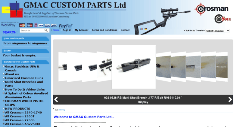 Access gmaccustomparts com  gmac custom parts - From airgunner to