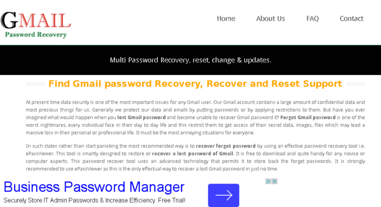 Access gmail-password-recovery com  Gmail Password Recovery