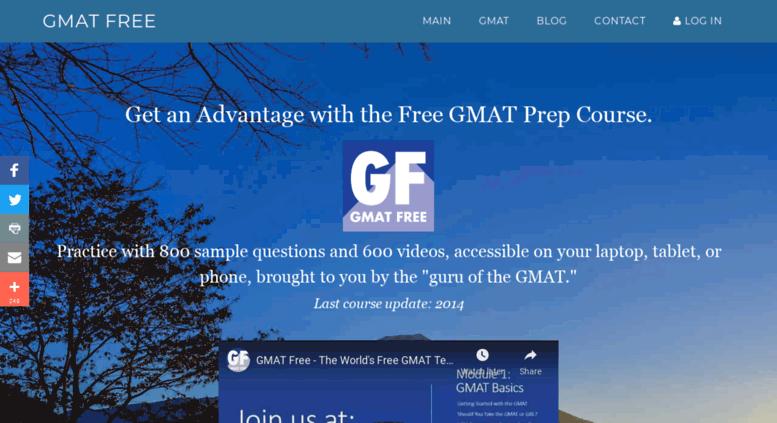 Access gmatfree com  GMAT Free - The Free GMAT Prep Course