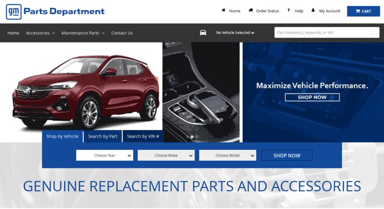Chevrolet parts department
