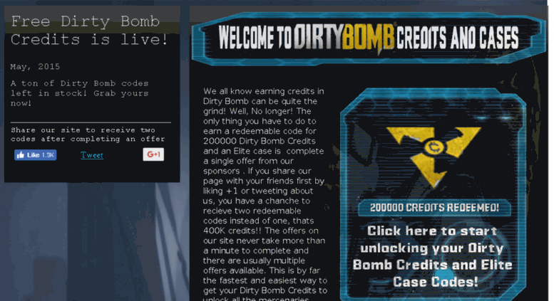 dirty bomb credits