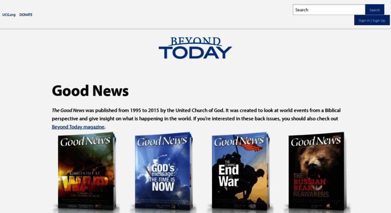 Access gnmagazine org  Good News | United Church of God