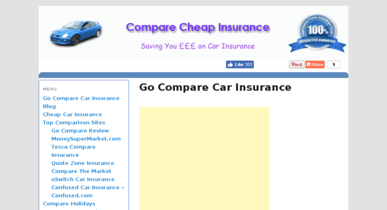 Access Go Compare Org Uk Go Compare Cheap Car Insurance Save Up