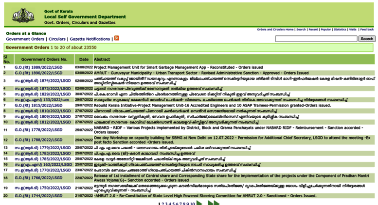 Access go lsgkerala gov in  Government Orders, Circulars and