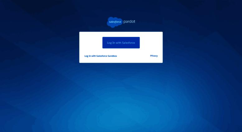 Access go.pardot.com. Sign In - Pardot