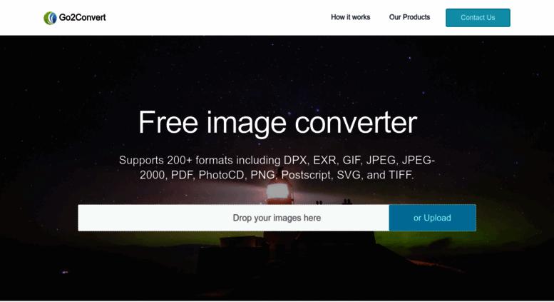 Access go2convert com  Convert TIFF JPG EPS PCX PDF PNG PSD SVG TGA