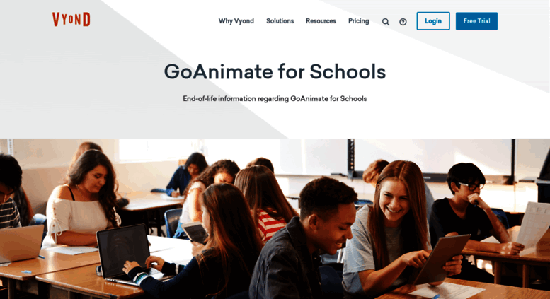 Access goanimate4schools com  GoAnimate for Schools End-of-Life | Vyond