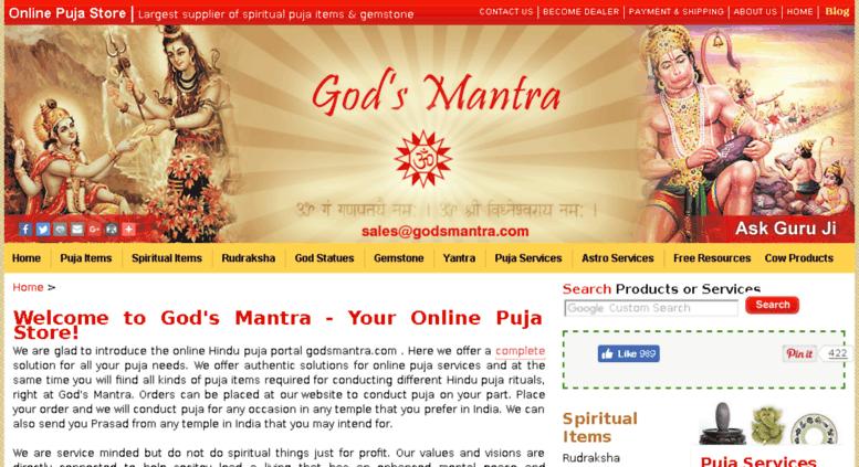 Access godsmantra com  Online Puja Store | Spiritual Items