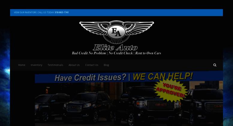 Elite Auto Credit >> Access Goeliteauto Com Rent To Own Shreveport No Credit