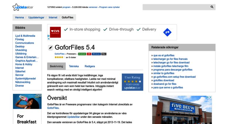 goforfiles 5.4