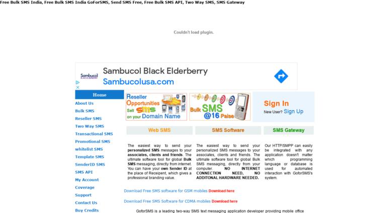 Access goforsms com  Free Bulk SMS India, Free Bulk SMS