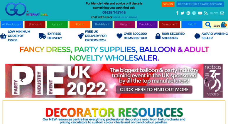 Access gointernational co uk  Wholesale Party Supplies in