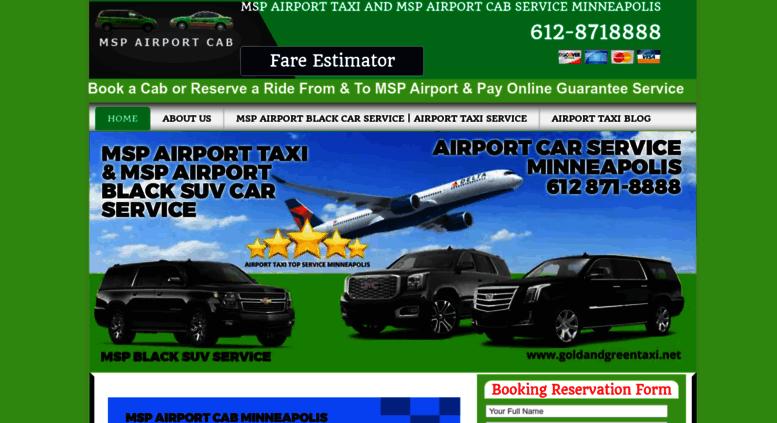 Access Goldandgreentaxi Net Msp Airport Taxi Provide Black Cars