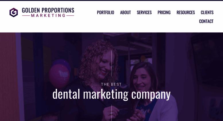 Access goldenproportions com  Dental Marketing - Dental