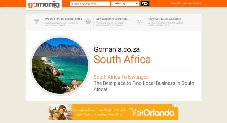Access gomania co za  Yellow Pages South Africa, Online