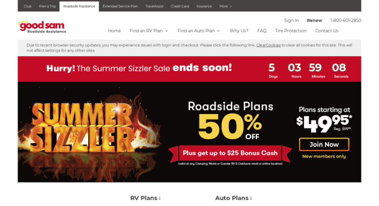 Access goodsamers com  RV Roadside Assistance | Roadside