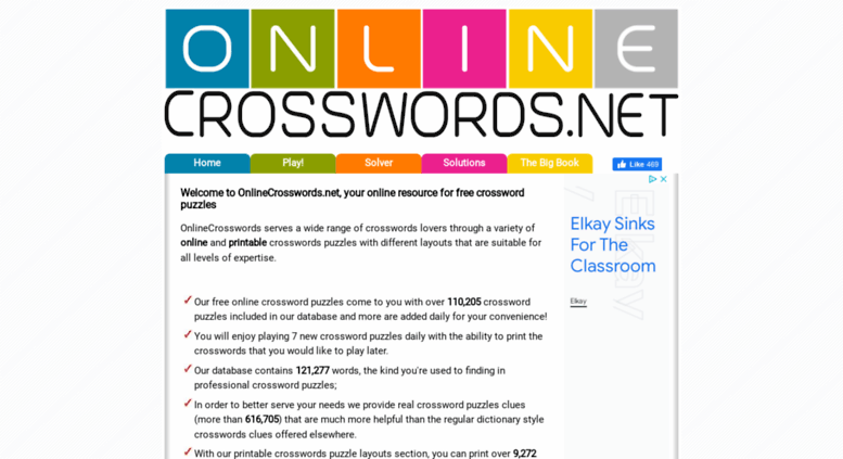 photo relating to Onlinecrosswords Net Printable Daily identified as Absolutely free Every day Crossword Puzzles