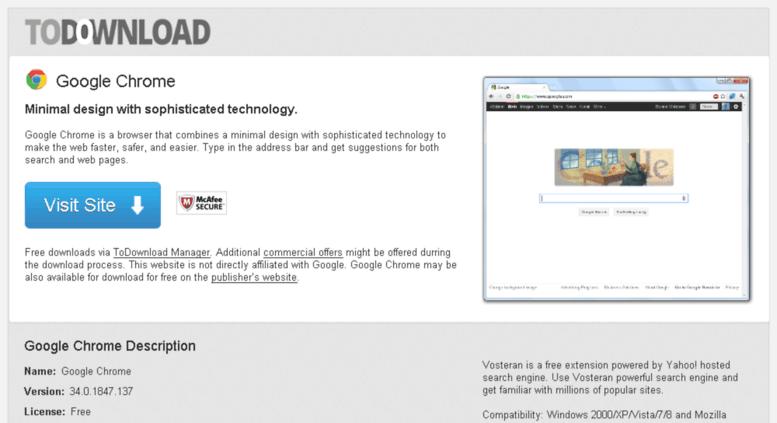 Access googlechrome todownload com  Download Google Chrome Free