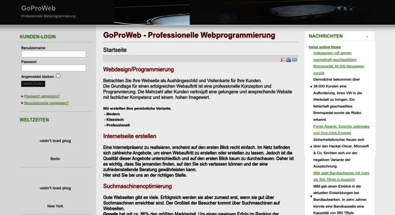 Access Goproweb De Goproweb Professionelle Webprogrammierung