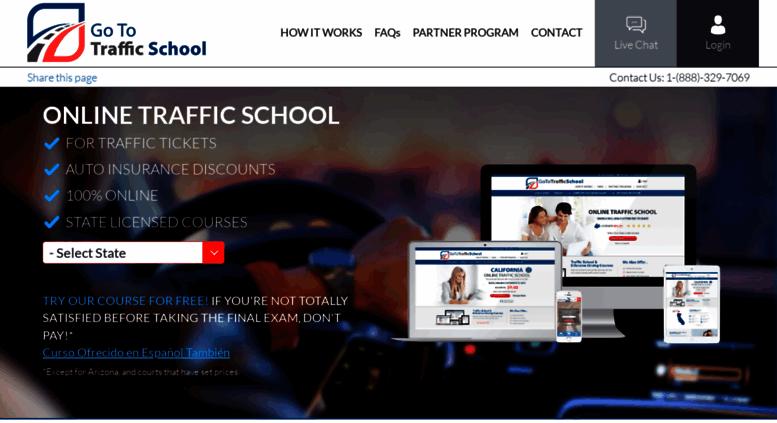 Go To Traffic School >> Access Gototrafficschool Com Traffic School Defensive