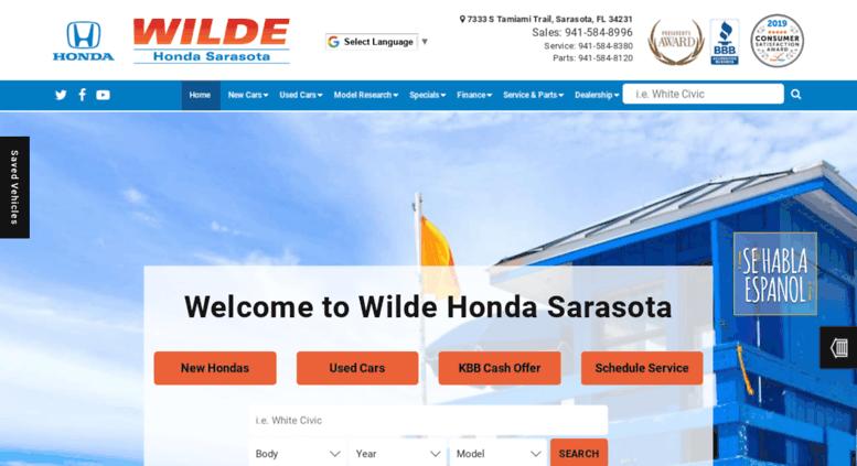 Sarasota Car Dealerships >> Access Gowildehonda Com Wilde Honda Sarasota Honda And