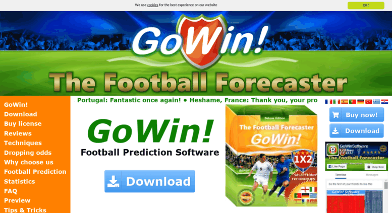 Access gowinsoftware com  GoWin! Football Prediction
