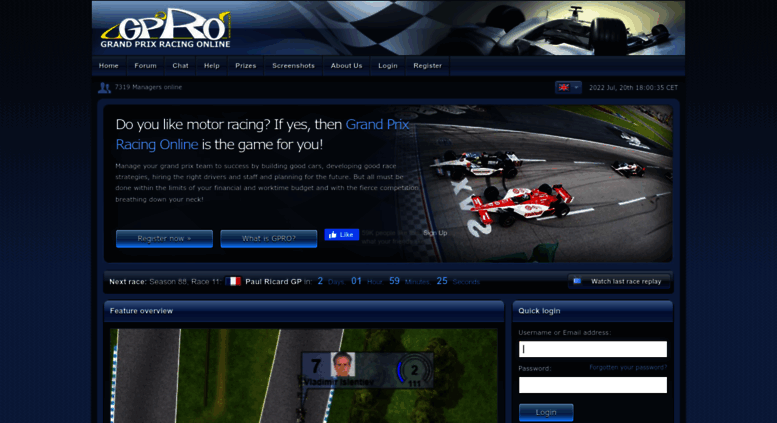 access grand prix racing online a free online f1 manager game. Black Bedroom Furniture Sets. Home Design Ideas