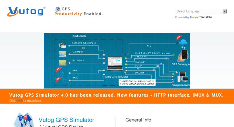 Access gps vutog com  GPS Simulator, NMEA generator, Data