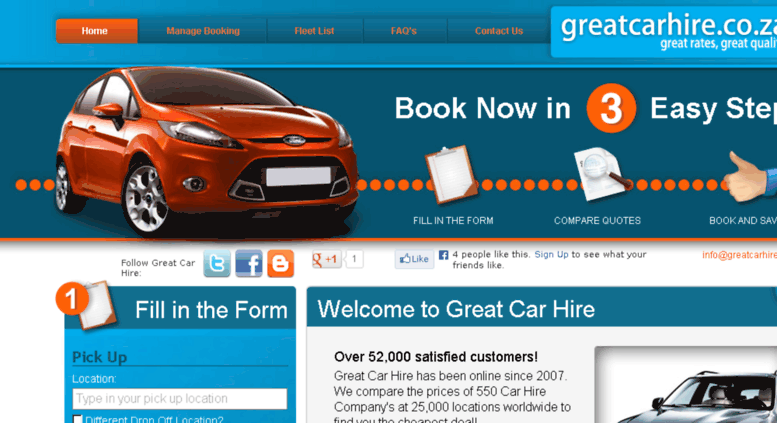 Access Greatcarhire Co Za Car Hire And Rental In South Africa