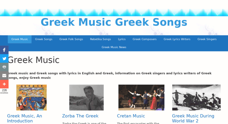 Access greeksongs-greekmusic com  Greek songs, Greek music