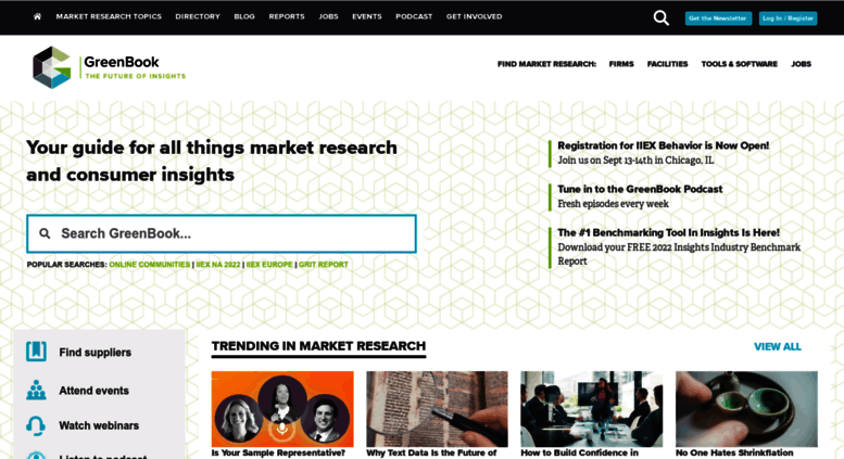 Market Research Companies >> Access Greenbook Org Greenbook Find Market Research