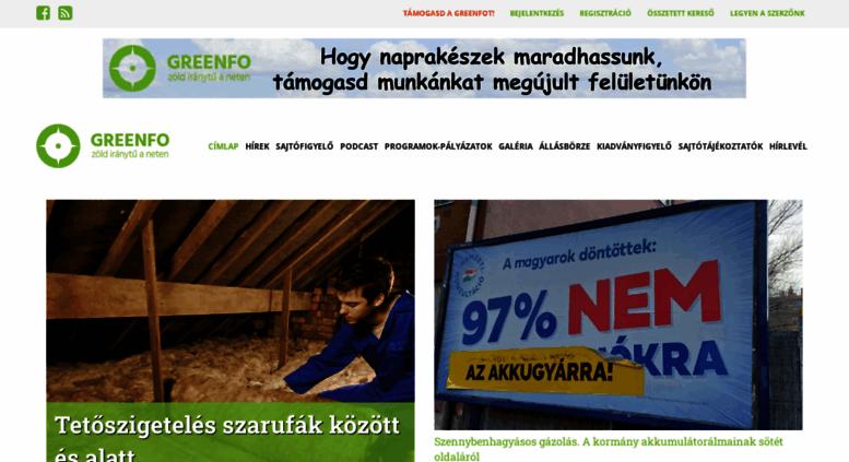 Access greenfo.hu. Címlap  341b22c267