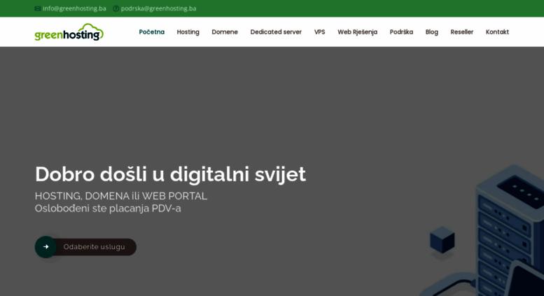 Access Greenhosting Ba Green Web Hosting I Domene Najbolji Hosting Provider U Bosni I Hercegovini