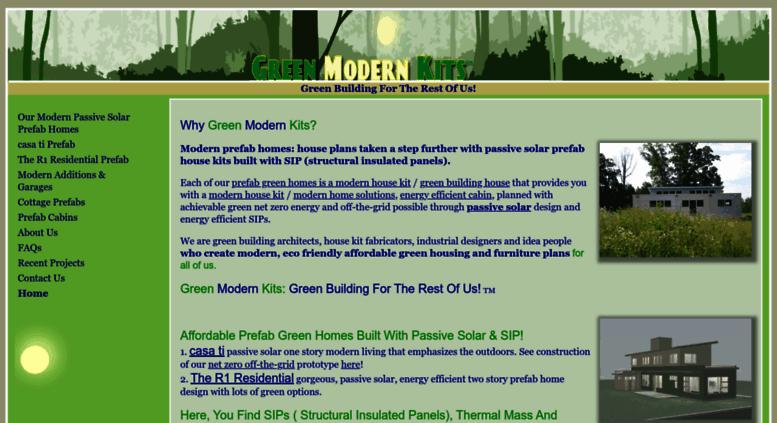 Access greenmodernkits com  Prefab Passive Solar Green Homes: Green