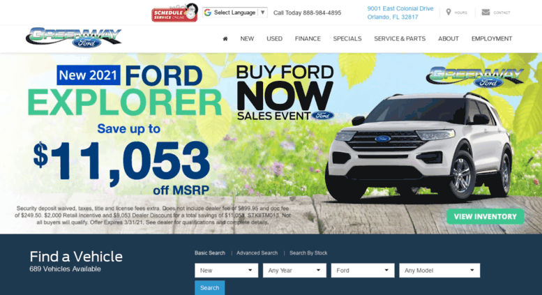 Ford Dealership Orlando >> Access Greenwayford Com Ford Dealer In Orlando Fl Used