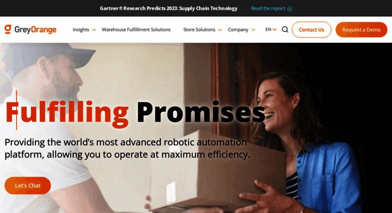 Access greyorange com  Robotic Warehouse Automation System