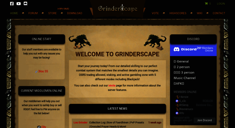 Access grinderscape org  Oldschool Runescape private server