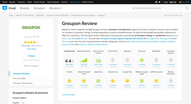 Access groupon knoji com  35% Off Groupon Coupon Code | 2017