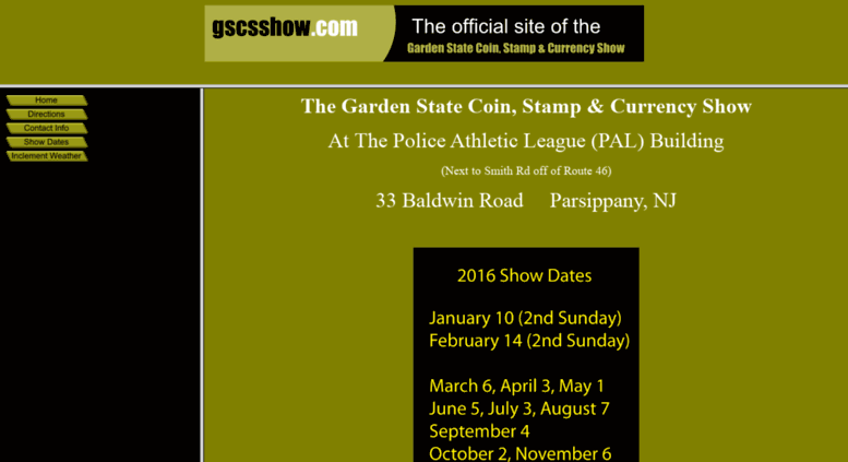 Access gscsshow com  Garden State Coin, Stamp & Currency