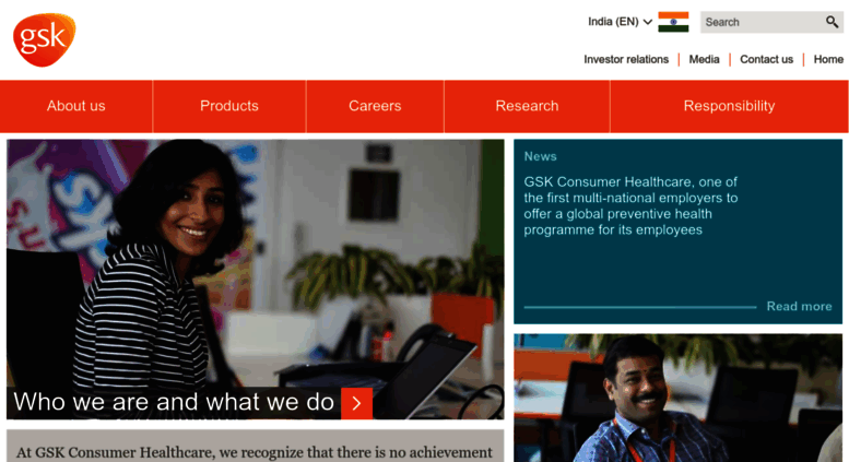 Access gsk-ch in  Home | GSK Consumer Healthcare INDIA